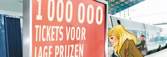 1.000.000 tgv treintickets